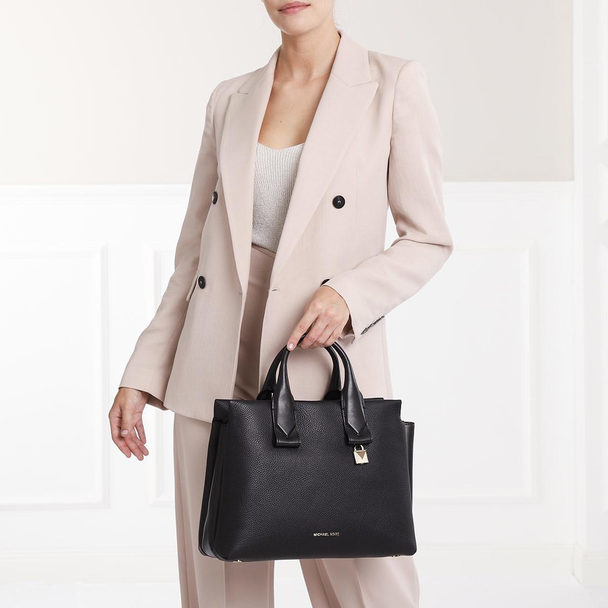 23a6662c75ff1 Michael Kors Satchel Bag - Benning LG Satchel Bag Pearl Grey - in ...