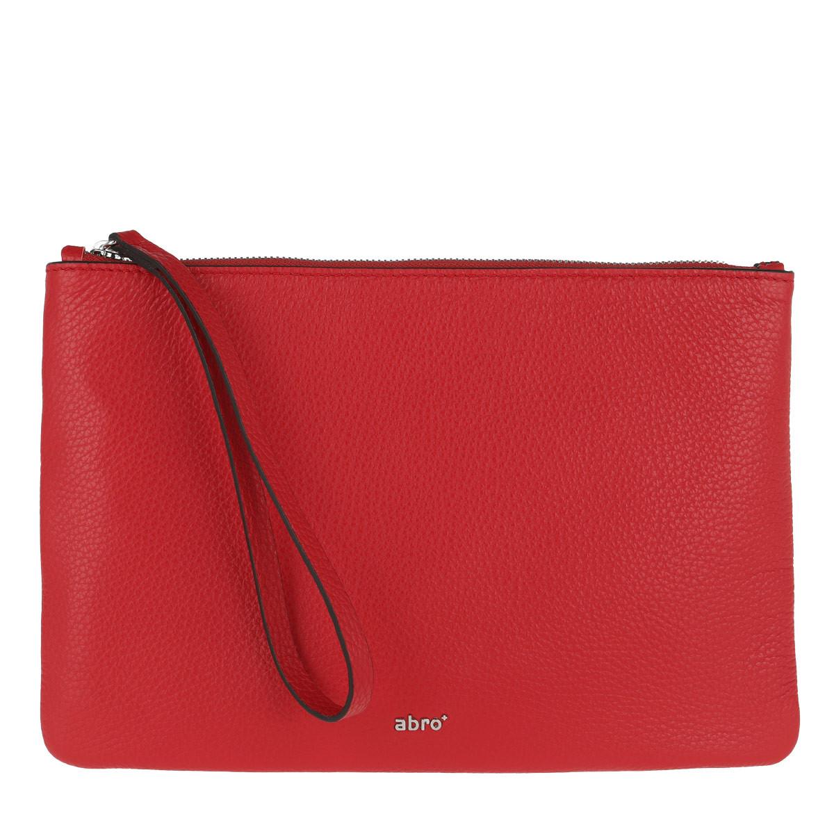 Abro Clutch - Calf Adria Clutch Red - in rot - für Damen