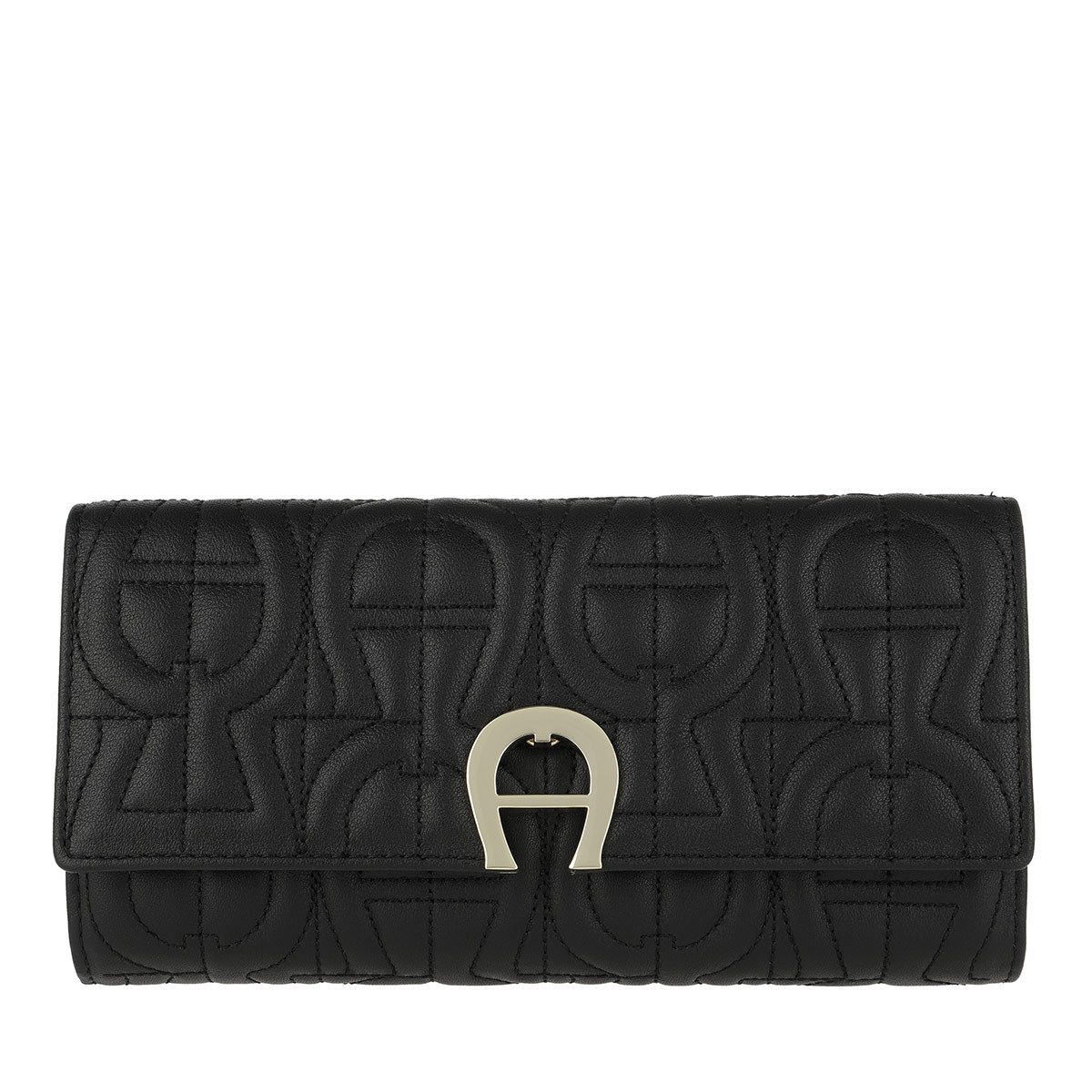 Aigner Portemonnaie - Genoveva Wallet Black - in schwarz - für Damen