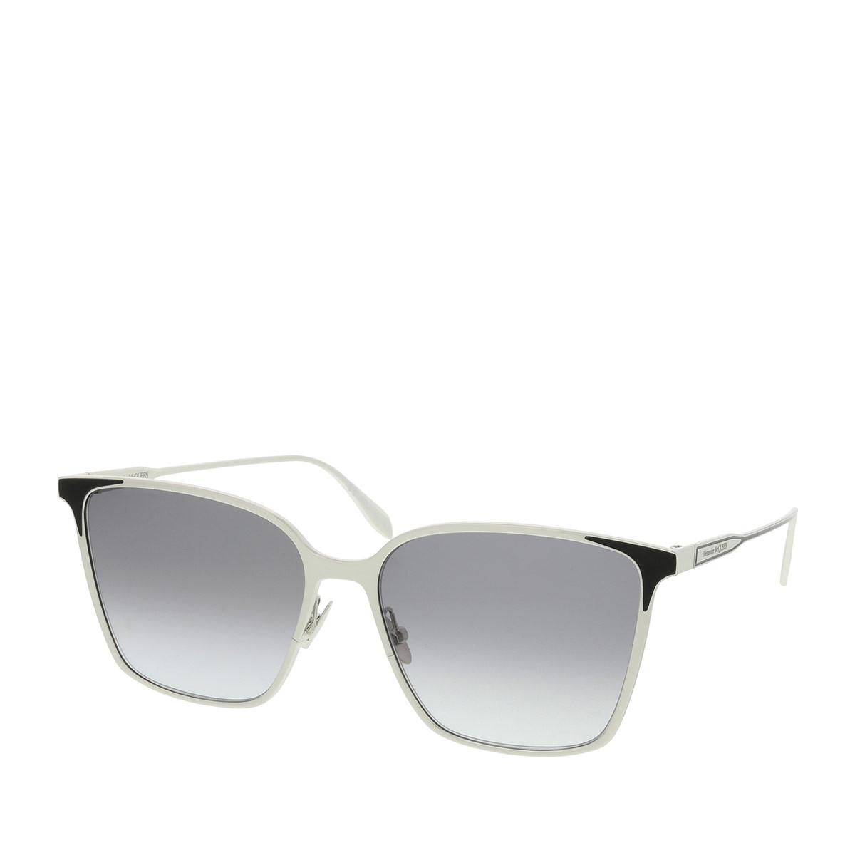 Alexander McQueen Sonnenbrille - AM0205S 57 002 - in silber - für Damen