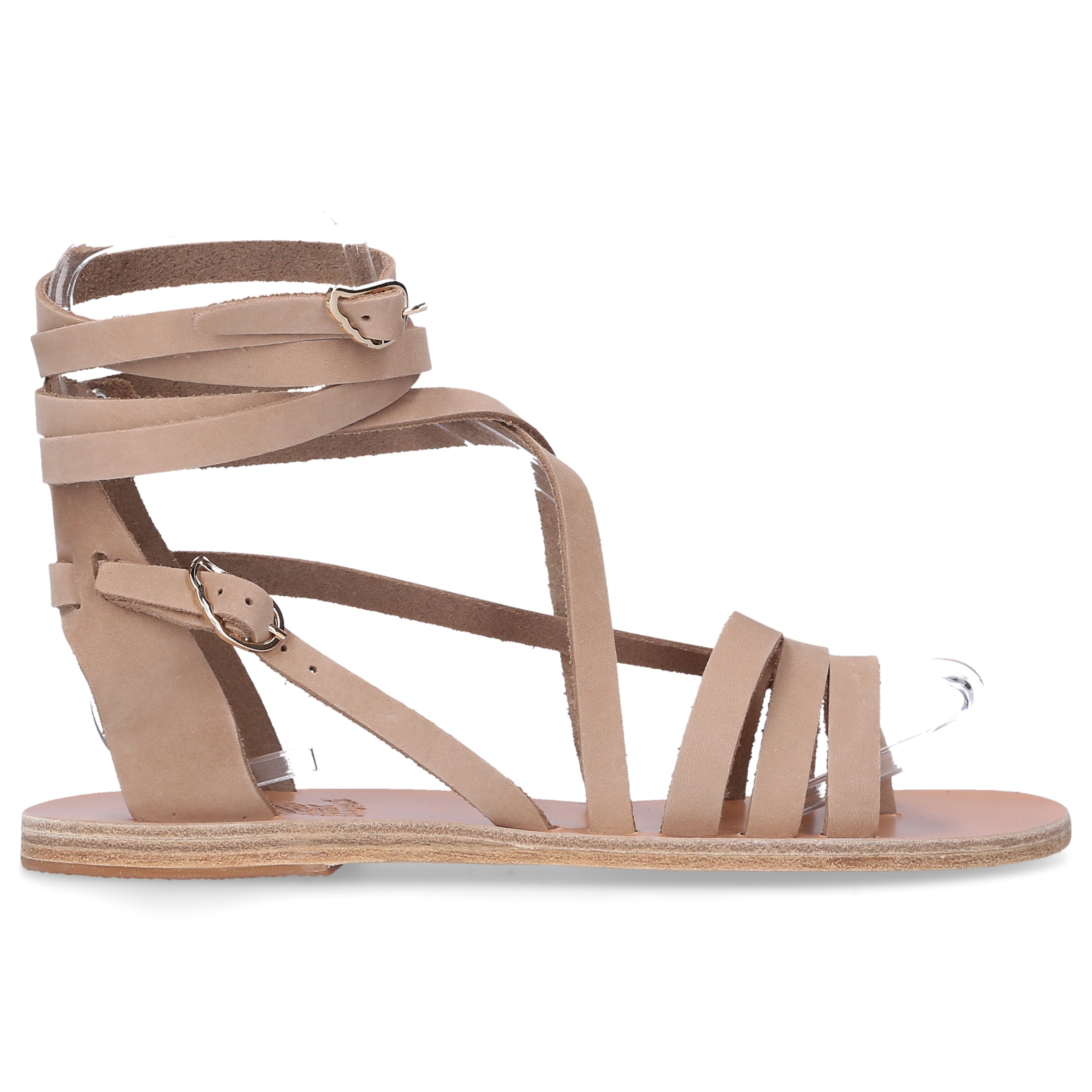 Ancient Greek Sandals Zehentrenner SATIRA Nubukleder beige
