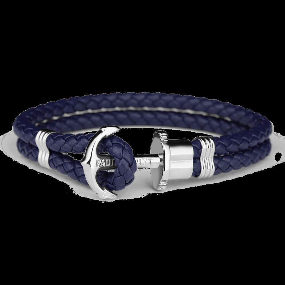 Ankerarmband PHREP Edelstahl Marineblau