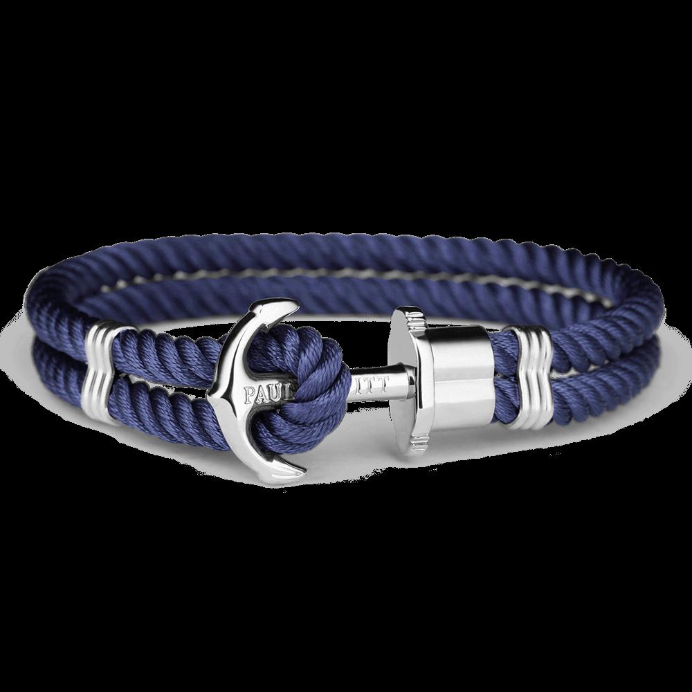 Ankerarmband PHREP Edelstahl Nylon Marineblau
