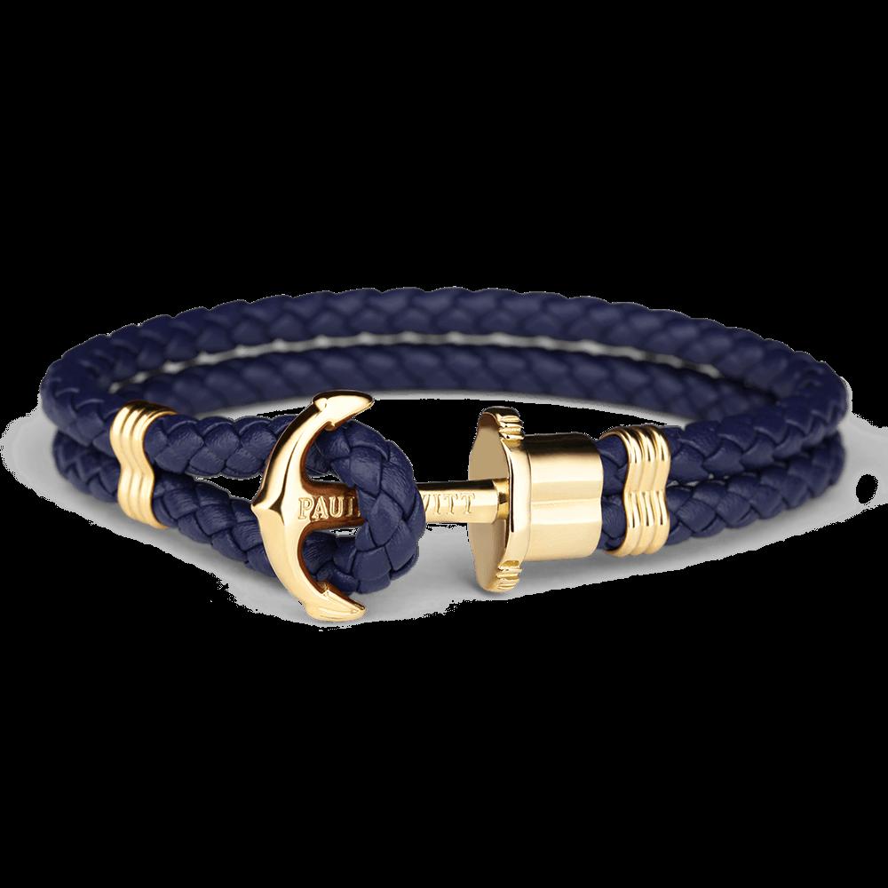 Ankerarmband PHREP IP Gold Marineblau