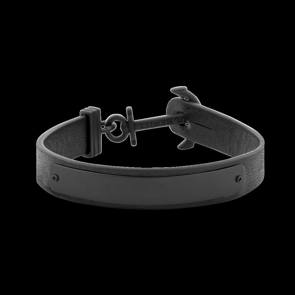 Ankerarmband Signum Gravur IP Schwarz Schwarz