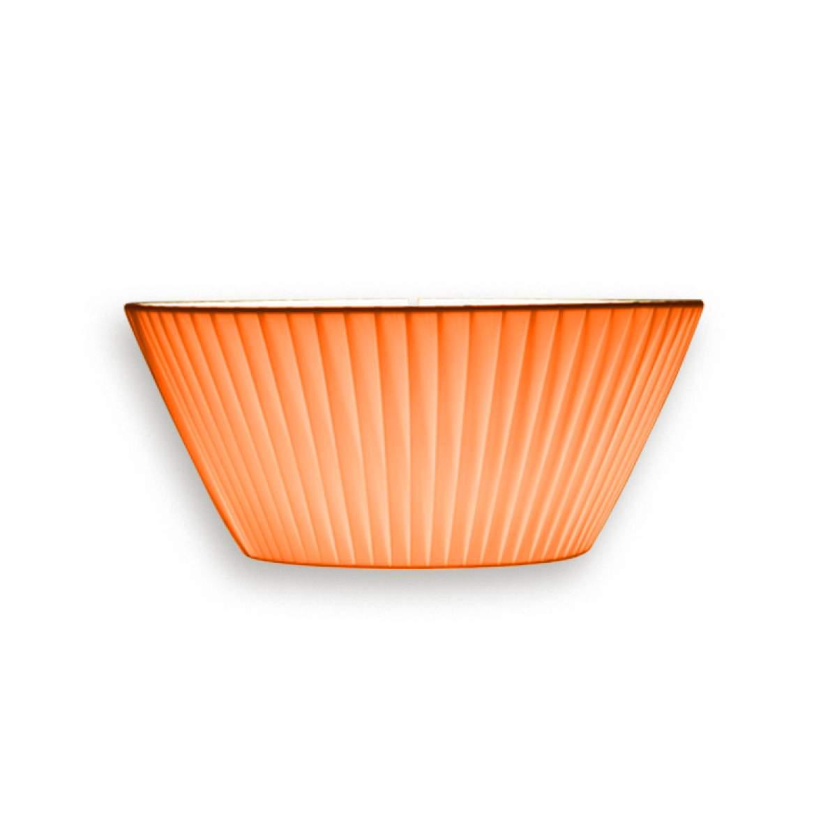 Anmutige Wandleuchte Emma, Breite 30 cm orange