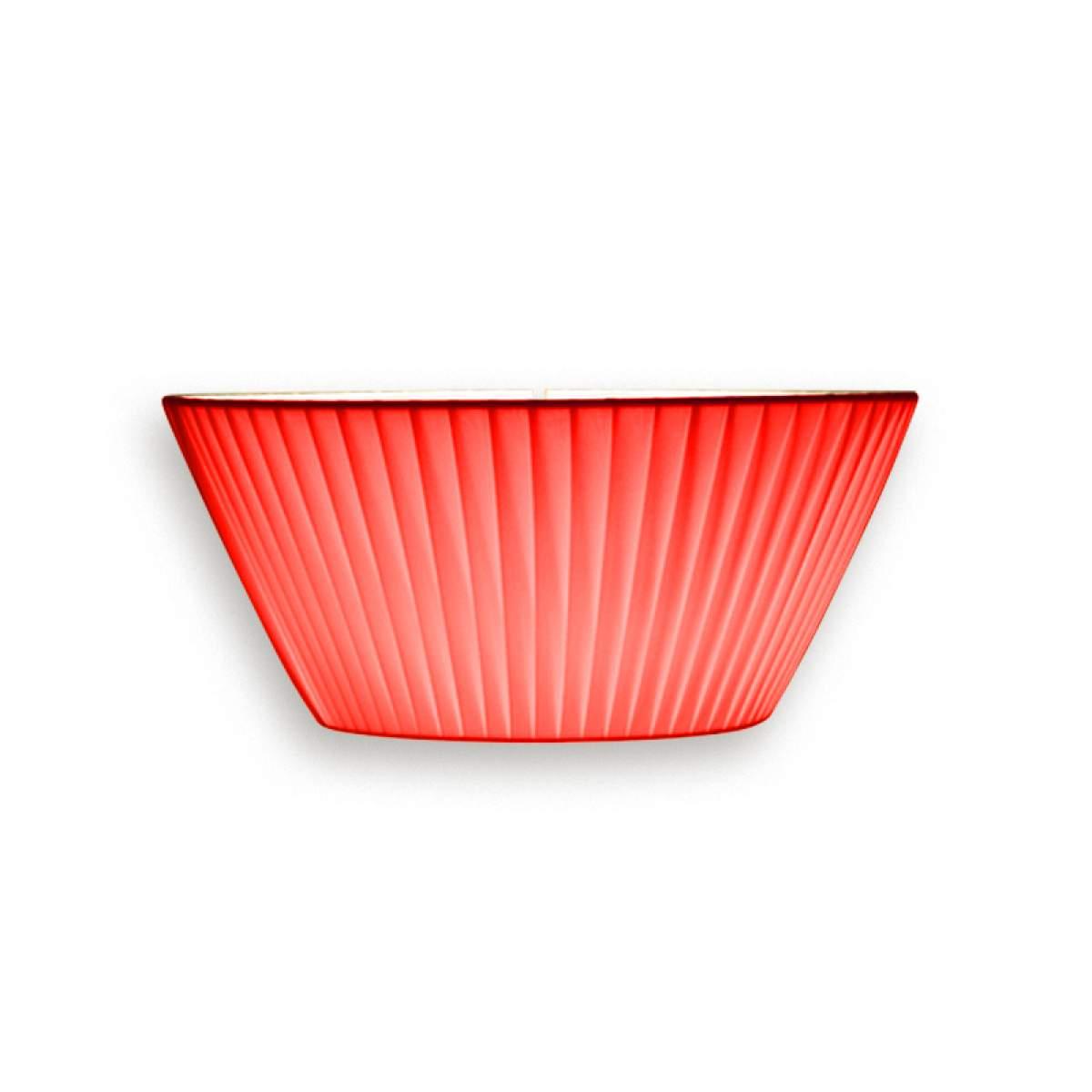 Anmutige Wandleuchte Emma, Breite 30 cm rot