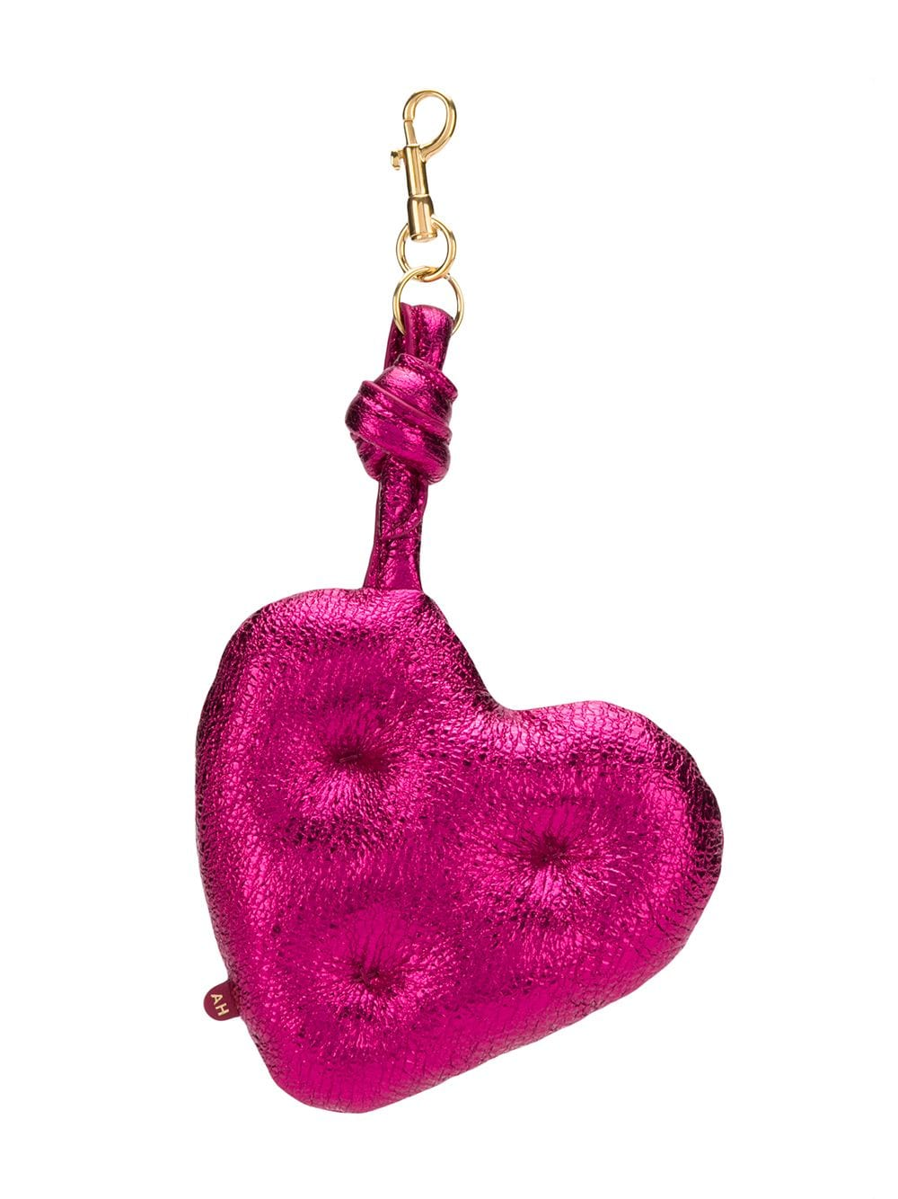 Anya Hindmarch Herz-Schlüsselanhänger - Rosa