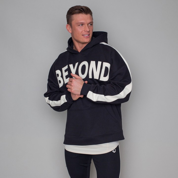Beyond Limits Men Oversize Hoodie Schwarz