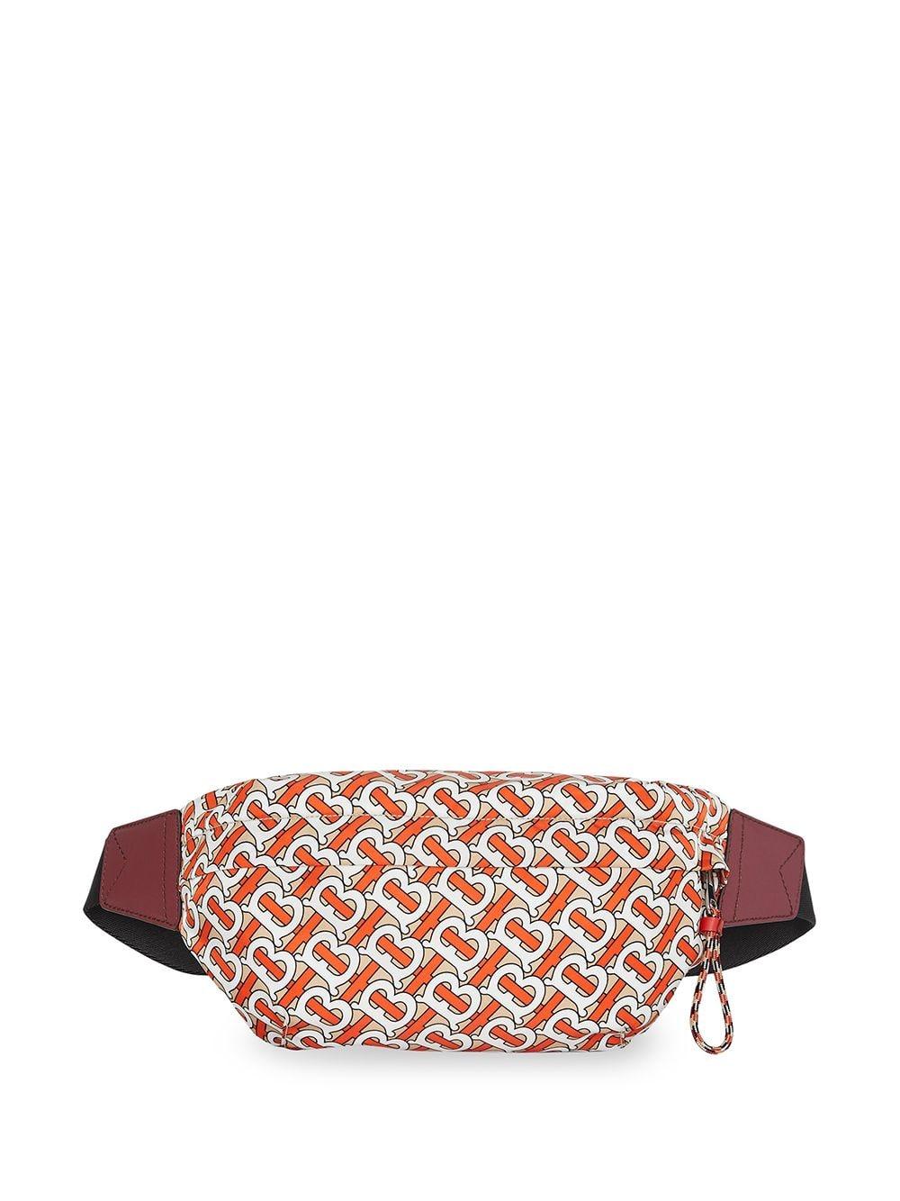 Burberry Mittelgroße Gürteltasche mit Monogramm - Orange