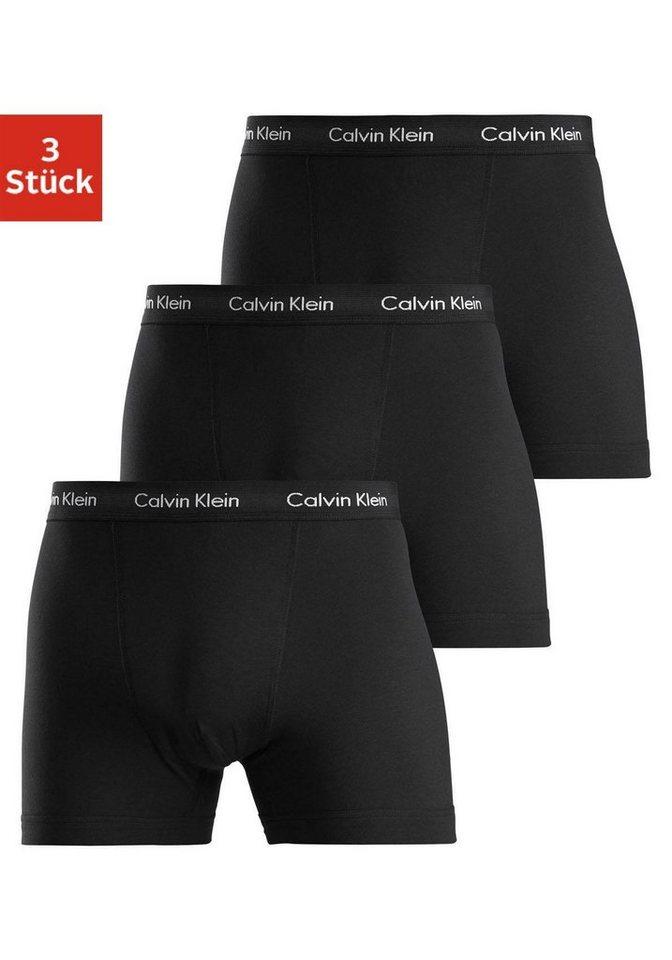 Calvin Klein Boxer (3 Stück), in uni schwarz