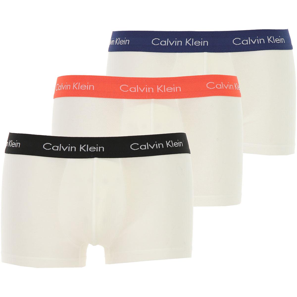 Calvin Klein Boxer Briefs for Men, Boxers, White, Cotton, 2019, XS (EU 2) S (EU 3) M (EU 4)