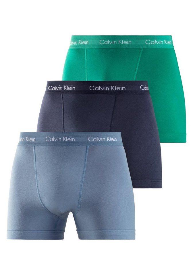 """Calvin Klein Boxer """"COTTON STRETCH"""" (3 Stück), mit kontrastfarbenem Markenschriftzug am Taillenbund"""