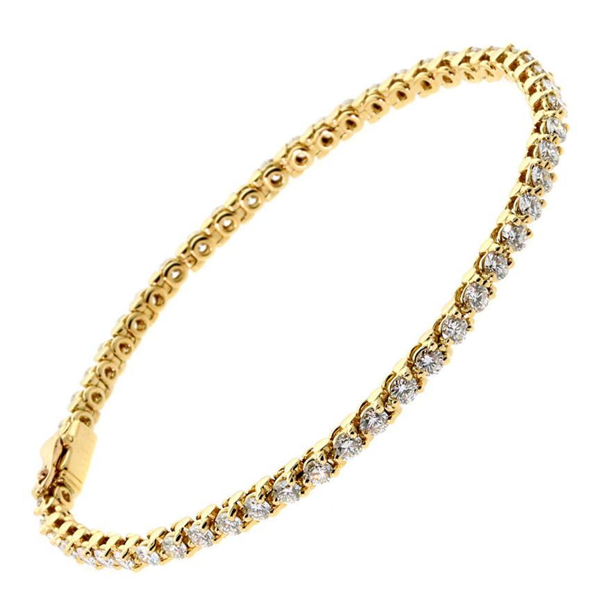 Cartier Diamond Tennis Gold Bracelet