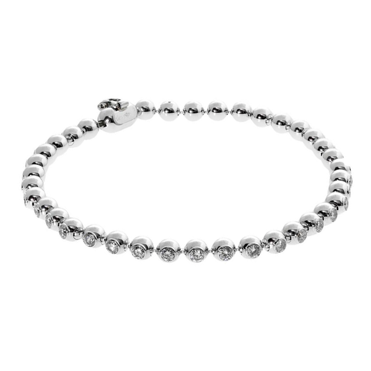 Cartier Diamond Tennis White Gold Bracelet