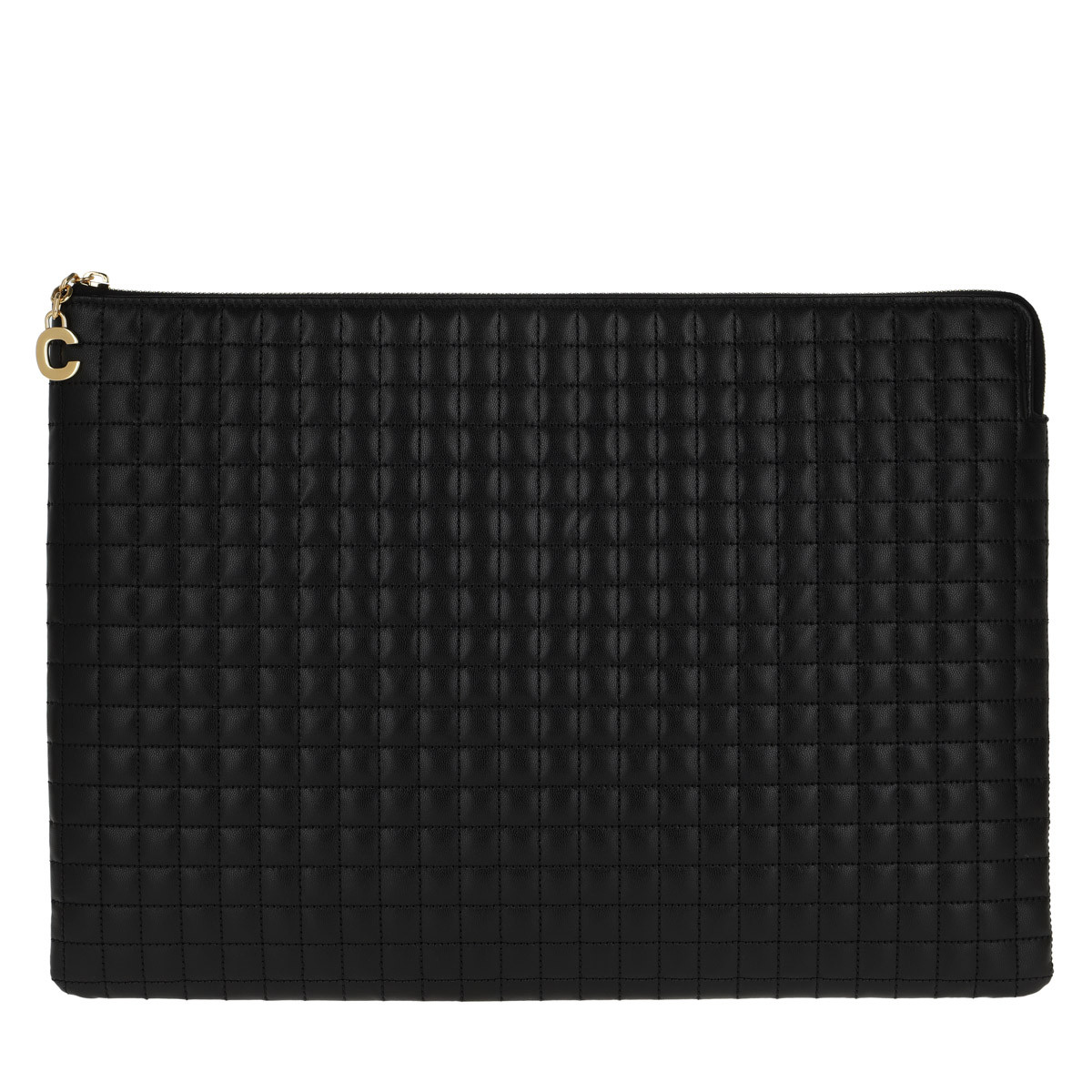 Celine Clutch - C Charm Large Pouch Quilted Leather Black - in schwarz - für Damen