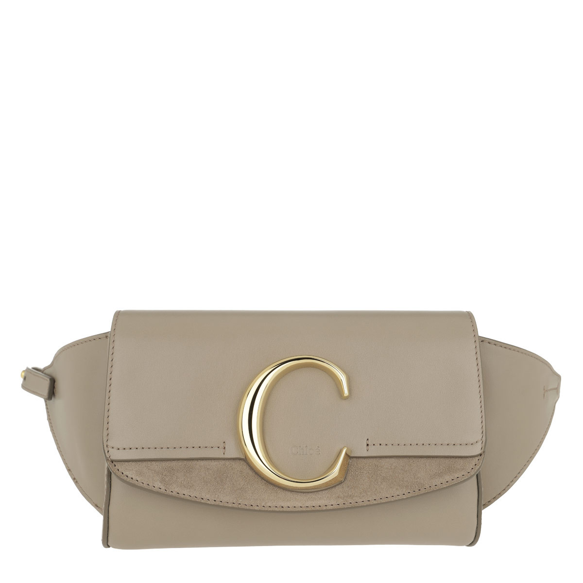 Chloé Gürteltasche - Chloé C Belt Bag Motty Grey - in beige - für Damen