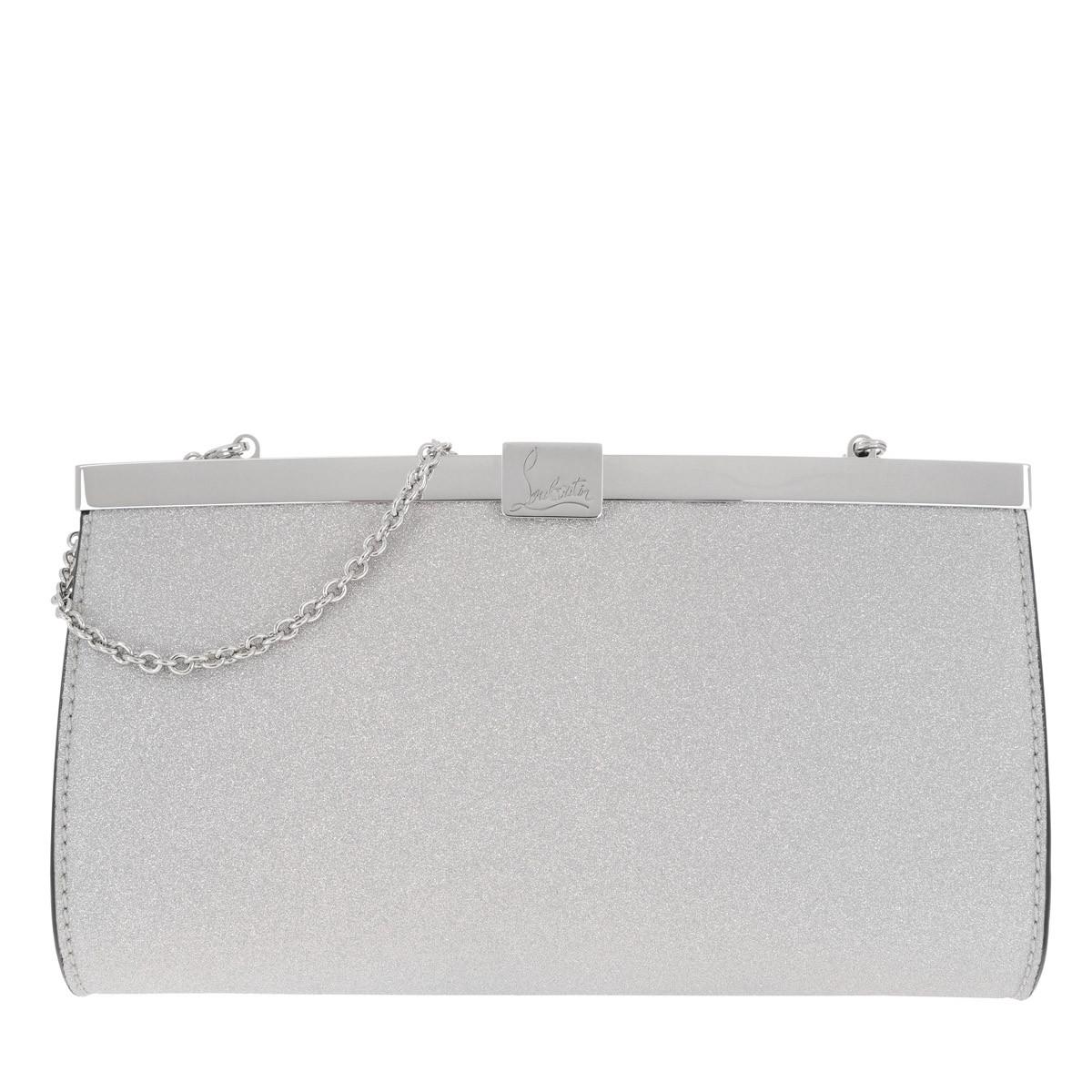 Christian Louboutin Clutch - Palmette Clutch Small Silver - in silber - für Damen