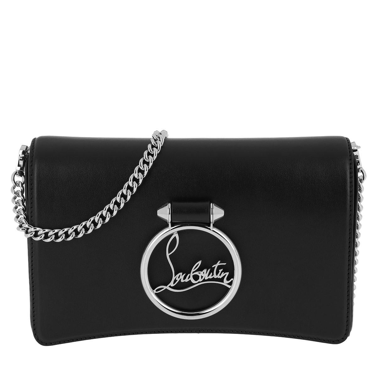 Christian Louboutin Umhängetasche - Rubylou Clutch Leather All Black - in schwarz - für Damen