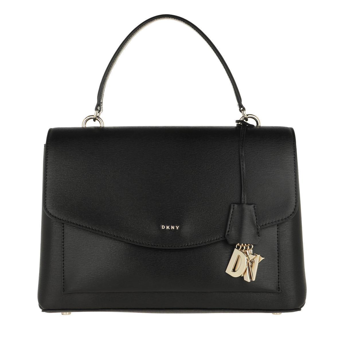 DKNY Satchel Bag - Lex MD TH Satchel Black/Gold - in schwarz - für Damen