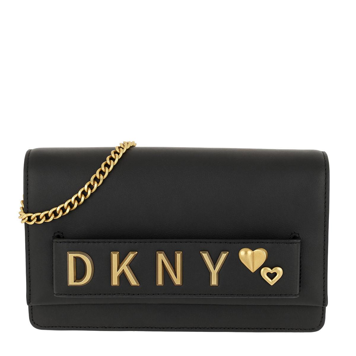 DKNY Umhängetasche - Smoke Convertible Clutch Black/Gold - in schwarz - für Damen