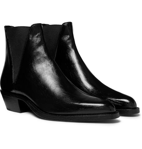 Dakota Polished-leather Chelsea Boots - Black