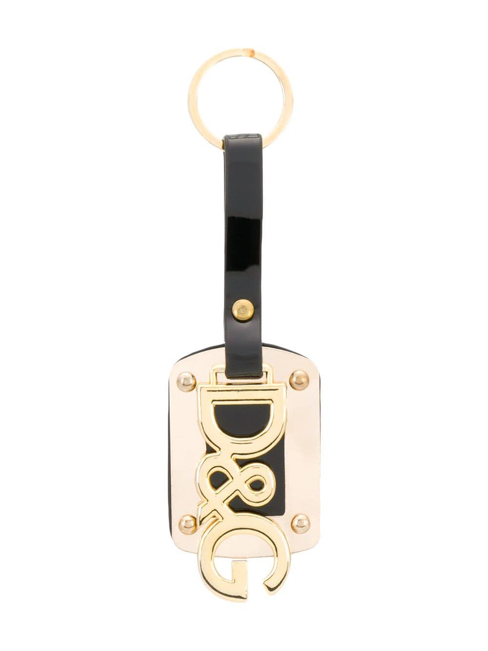 Dolce & Gabbana Vintage Schlüsselanhänger mit Logo - Schwarz