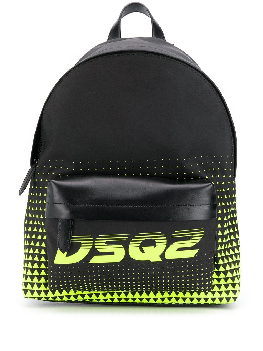 Dsquared2 Rucksack mit Reißverschluss - Schwarz