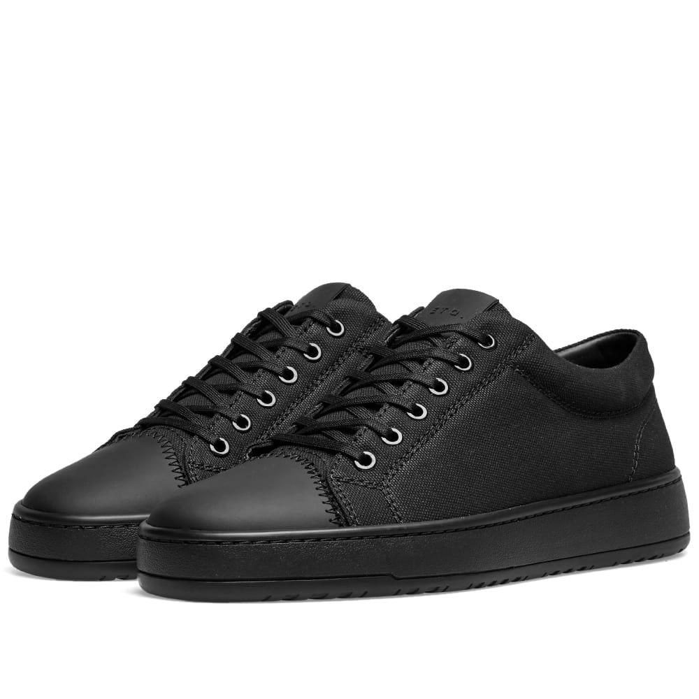 ETQ. Low Top 1 Sneaker Black Canvas