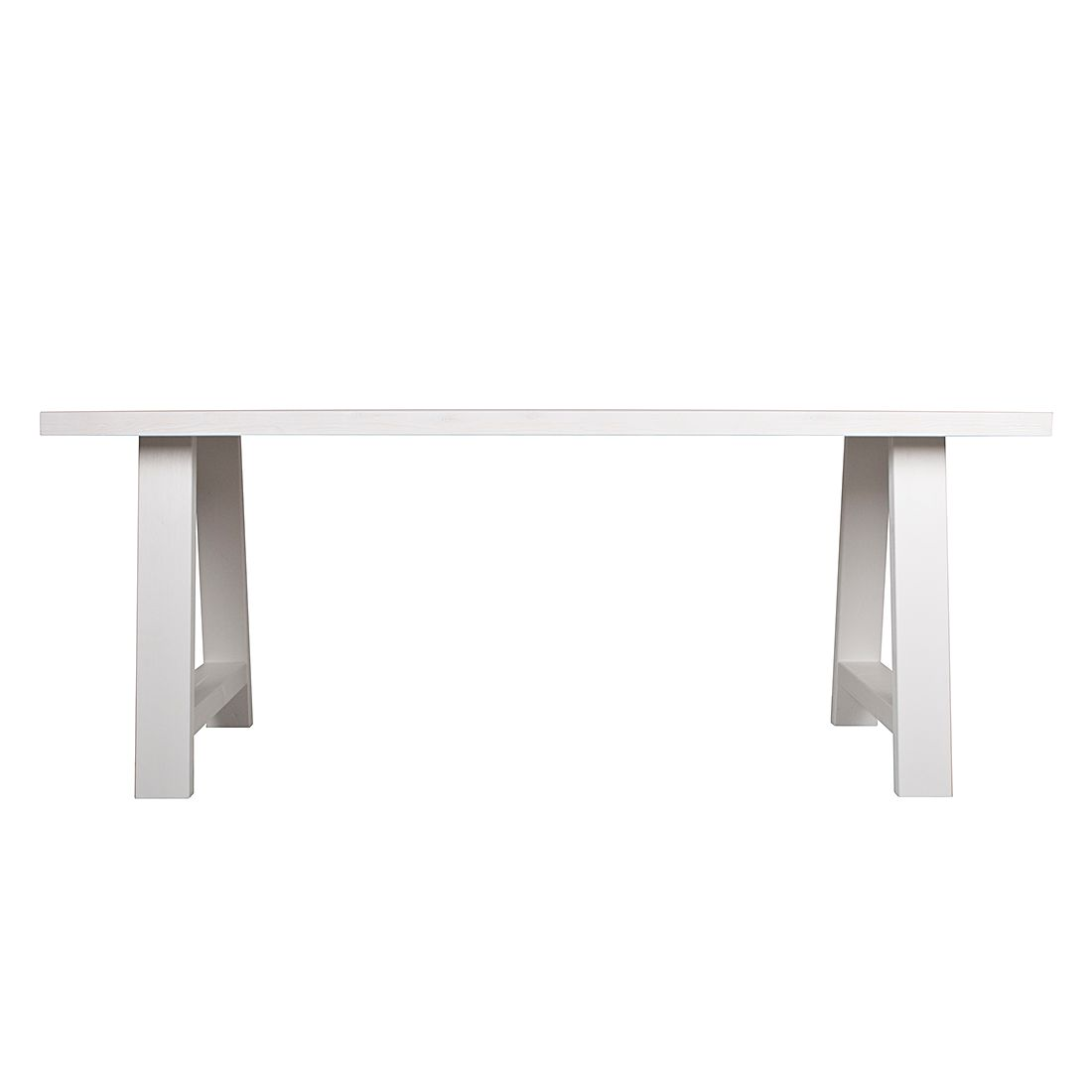 Esstisch A-framed - Kiefer massiv - Weiß - 180 x 85 cm, Zuiver
