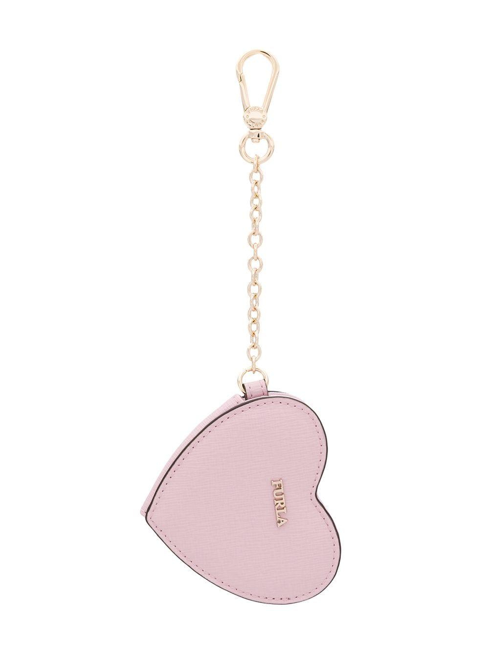 Furla Herz-Schlüsselanhänger - Rosa