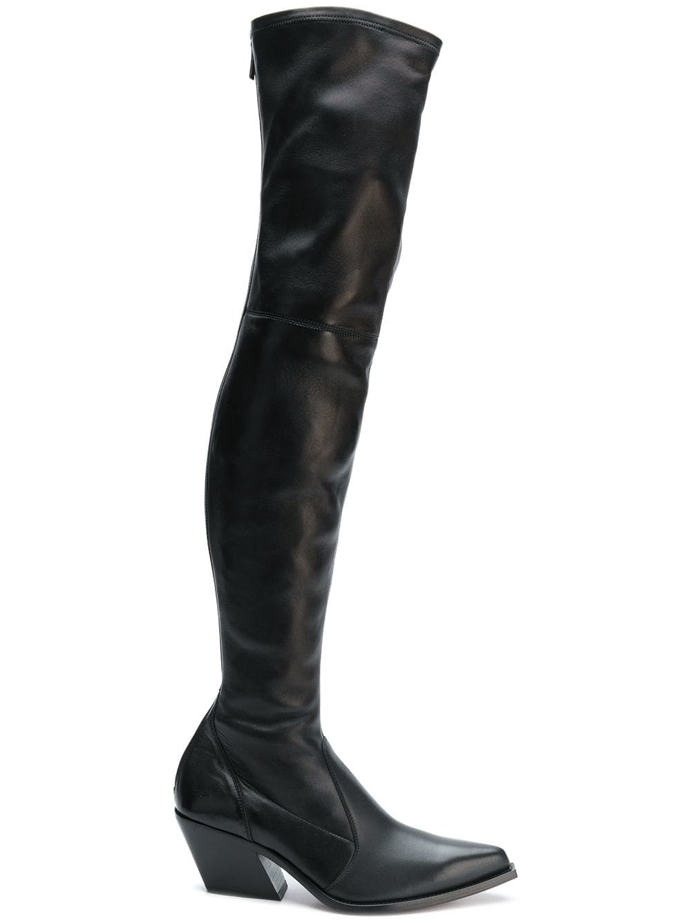 Givenchy Overknee-Stiefel im Cowboy-Look - Schwarz