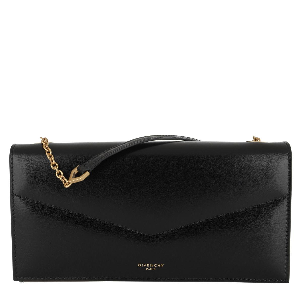 Givenchy Umhängetasche - Wallet On Chain Leather Black - in schwarz - für Damen