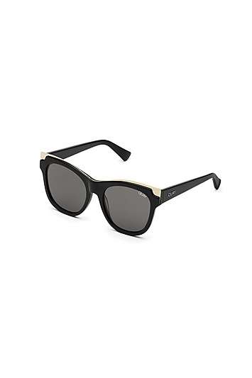 **Goldfarbene It's My Way Sonnenbrille von Quay - Multi