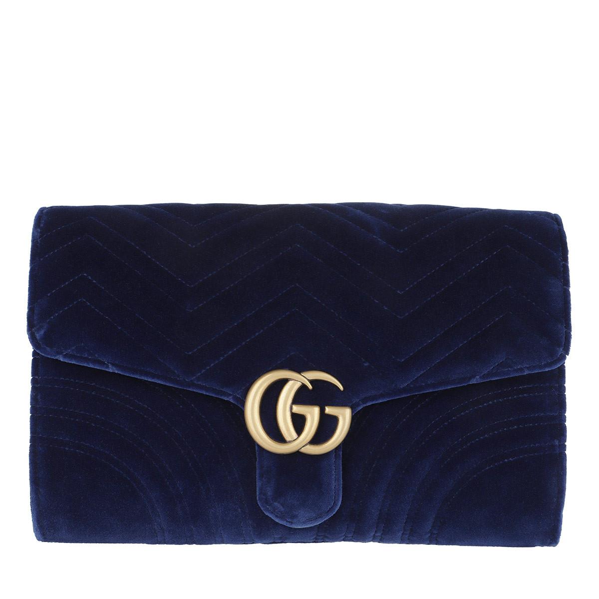 Gucci Clutch - GG Marmont Velvet Clutch Cobalt - in blau - für Damen
