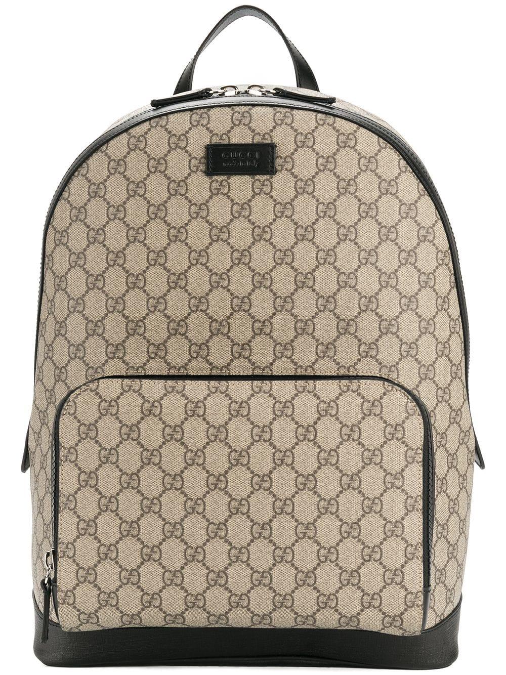 Gucci 'GG Supreme' Rucksack - Braun