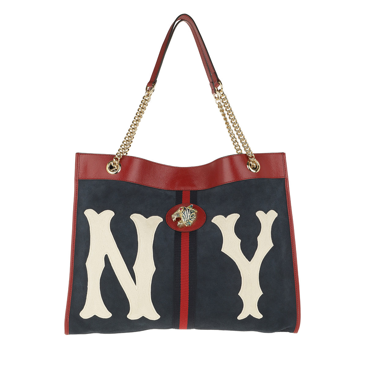 Gucci Shopper - Large Rajah Shopper NY Yankees Patch Black/Blue - in blau - für Damen