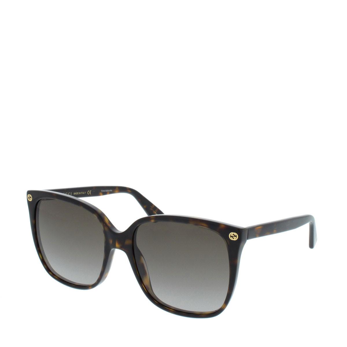 Gucci Sonnenbrille - GG0022S 003 57 - in braun - für Damen