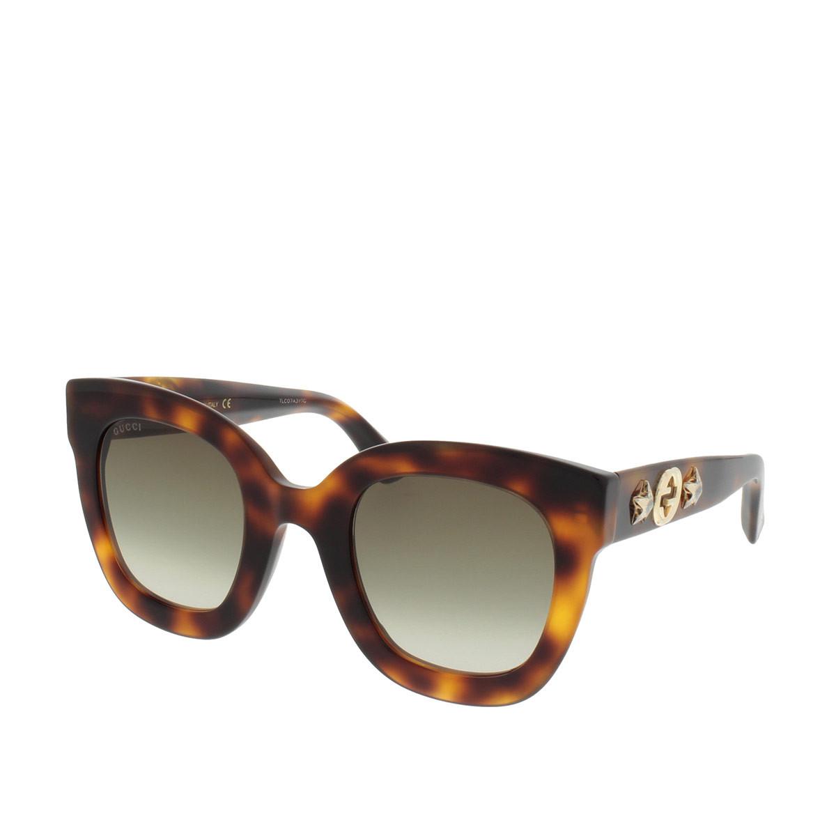 Gucci Sonnenbrille - GG0208S 49 003 - in braun - für Damen