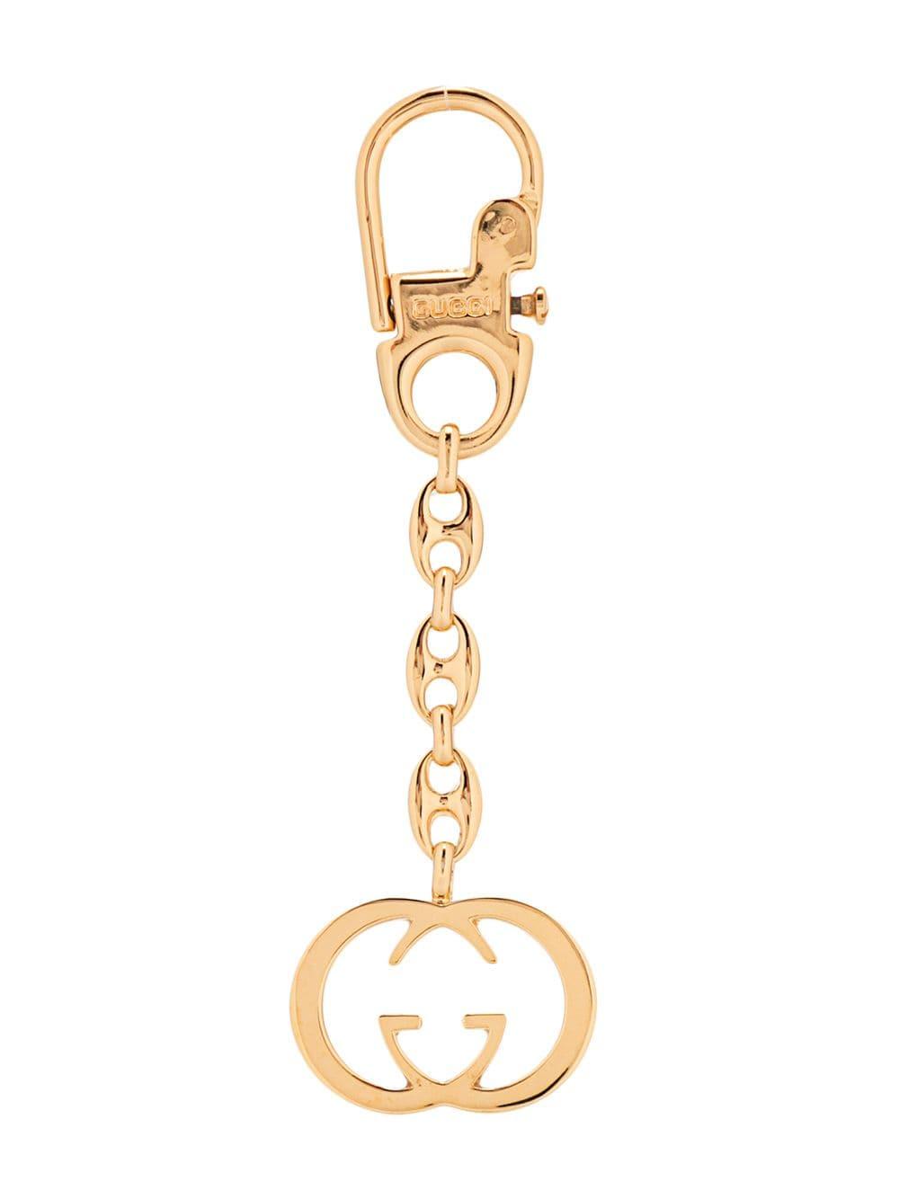 Gucci Vintage Schlüsselanhänger mit GG - Gold