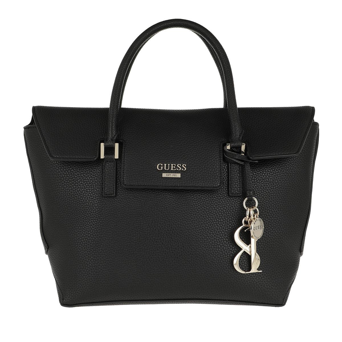 Guess Satchel Bag - West Side Flap Satchel Black - in schwarz - für Damen