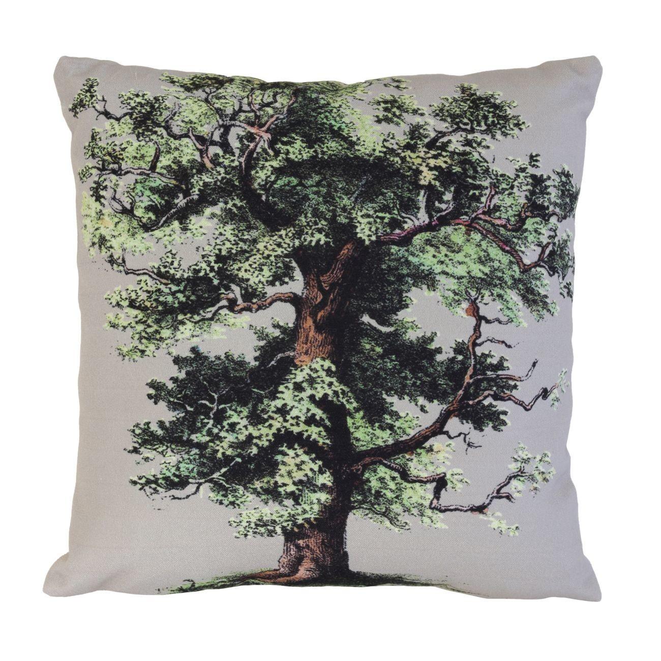 HK living Printed Big Oak Tree Kissen mit Füllung