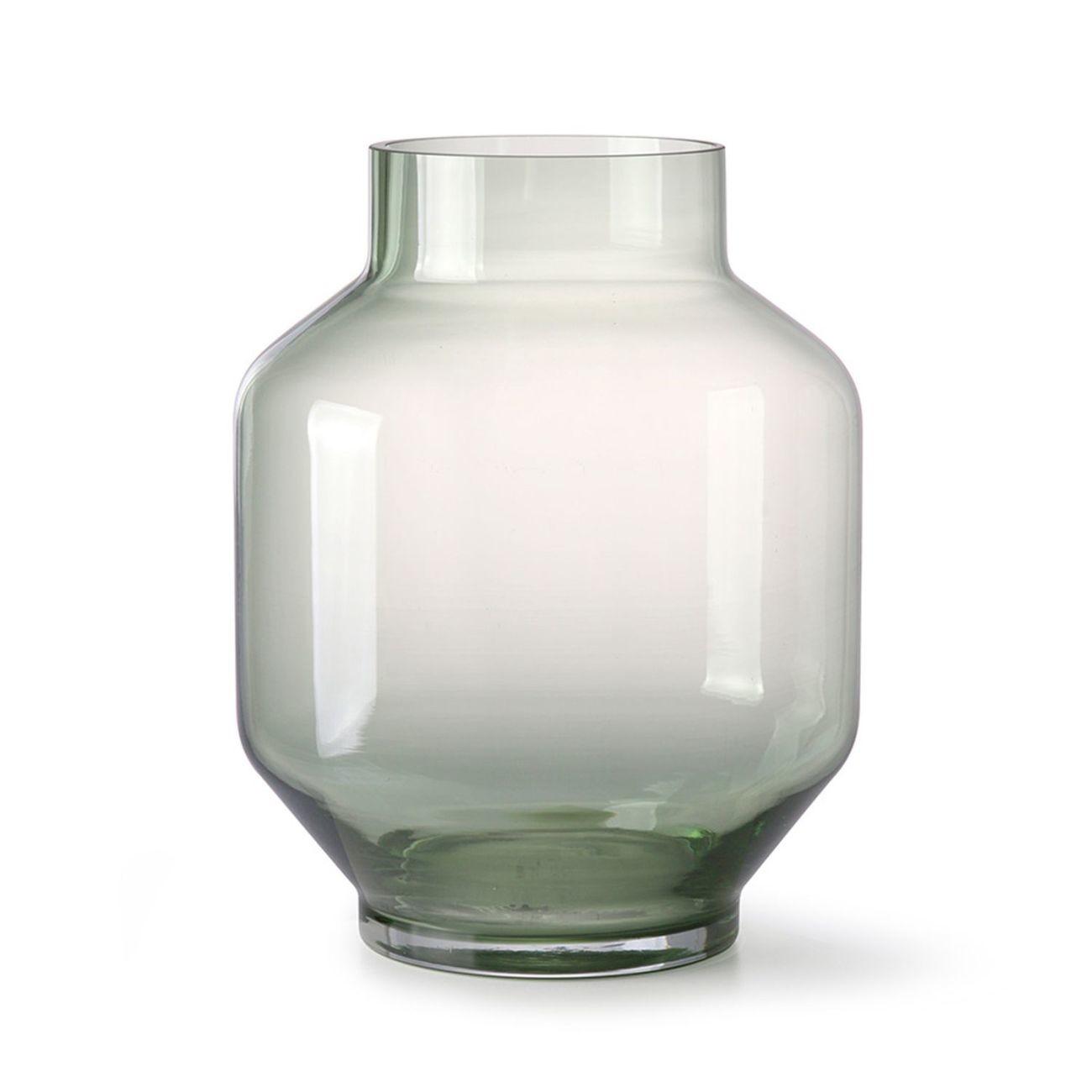 HK living green glass Vase - L