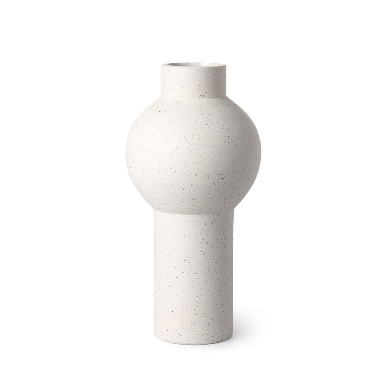 HK living speckled clay Vase round Blumenvase - M