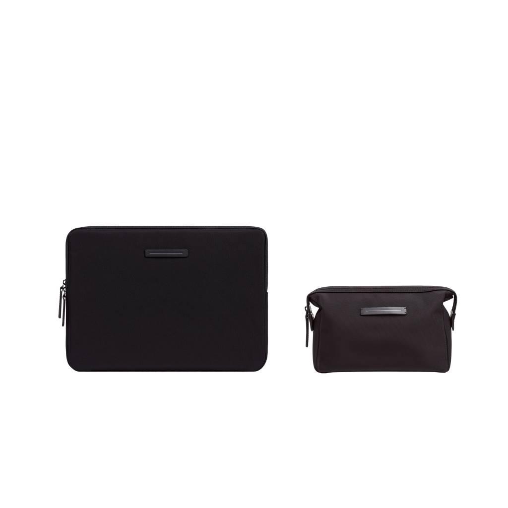 """HORIZN STUDIOS Kōenji Laptop Case 13"""" & Washbag (All Black)"""