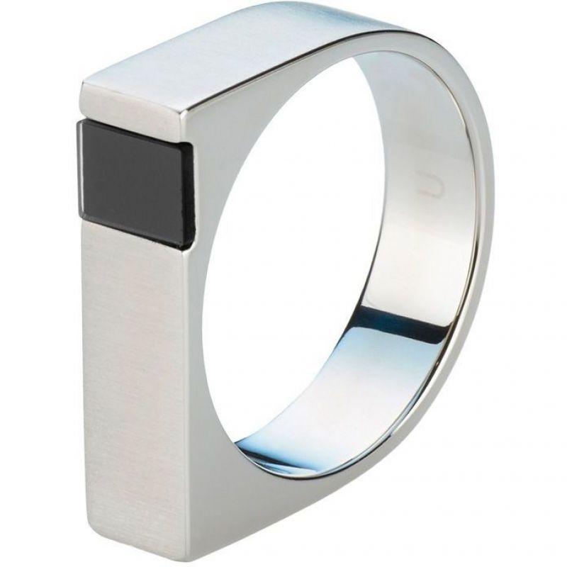 Herren STORM Jaxton Ring Size U Edelstahl JAXTON-RING-BLACK-U