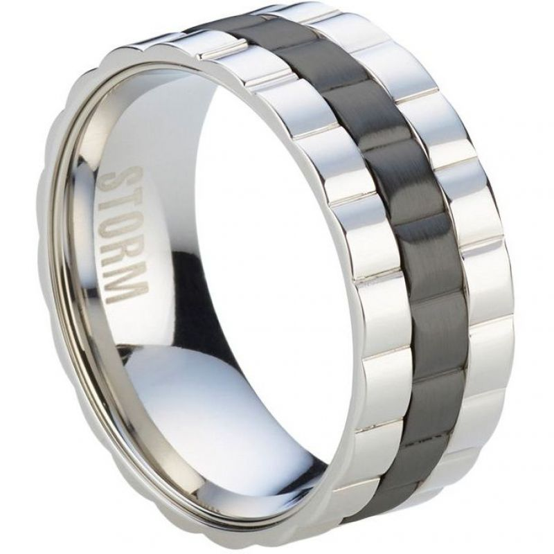 Herren STORM Velo Ring Size W Edelstahl VELO-RING-BLACK-W