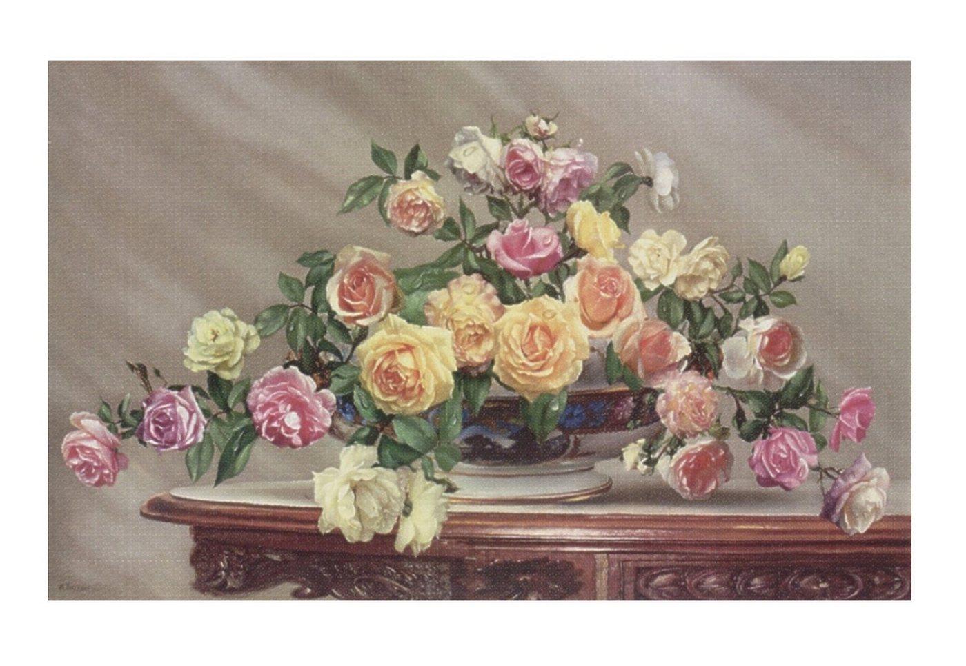 "Home affaire Wandbild ""Bouquet of roses"", 80/50 cm"