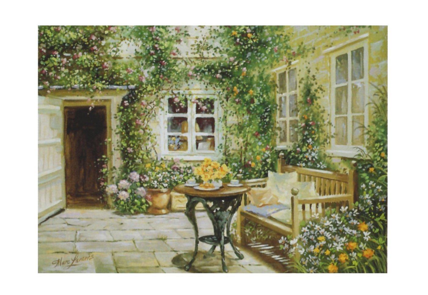 "Home affaire Wandbild ""Courtyard tranquility"", 70/50 cm"