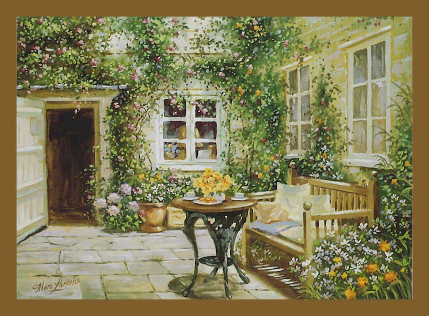 "Home affaire Wandbild ""Courtyard tranquility"", mit Rahmen"